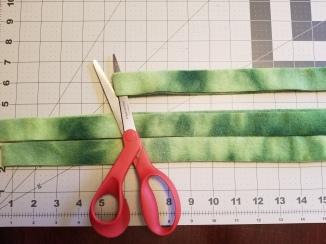 Cut through the fold