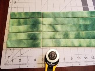 "Cut strips 5"" long"