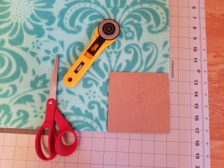 "Measuring to cut out 5"" square corner"