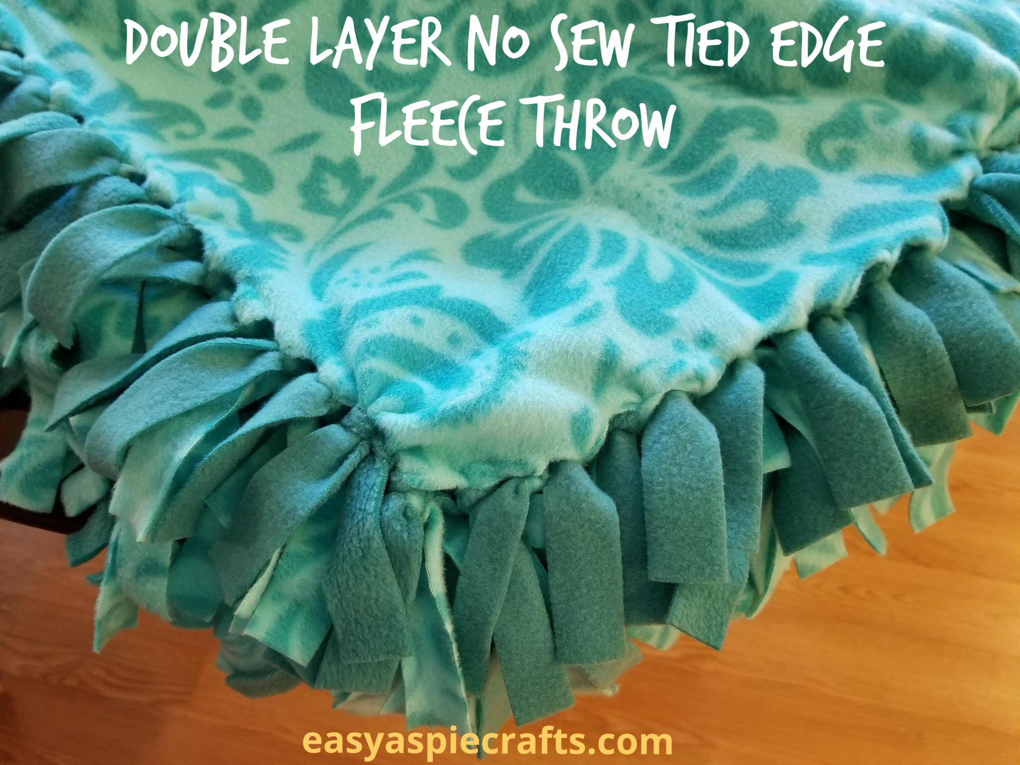 Double Layer No Sew Tied Edge Fleece Throw