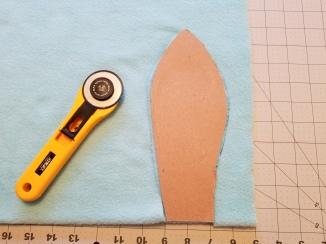Use pattern to cut ear